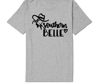 Southern Belle Country Girl Cowgirl Funny Unisex T Shirt Many Sizes Colors Custom Gift Jenuine Crafts