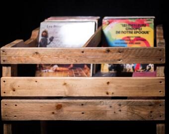 Unique storage for vinyl 33 RPM - model Elan - A200 'Natural'