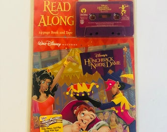 Disney's read along The Hunchback of Notre dame cassette tape and book listen and read new in package