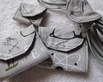 Sale - Set of 4 Geek Print Cord Wrap/Cord Organizer/Cord Keeper/Cable Wrap/Earbud Wrap/Cord Wraps/Cord Wrap Set