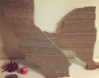 HANDMADE State/Country Cat Scratcher