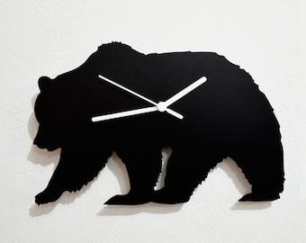 Bear Silhouette - Wall Clock