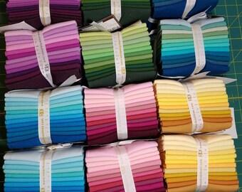 Kona Cotton Fat Quarter Bundles  12 pieces fabric ~ 3 yards  Robert Kaufman Variety
