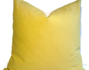 SALE Yellow Pillow Cover Plain Yellow Pillow Solid Yellow Pillow