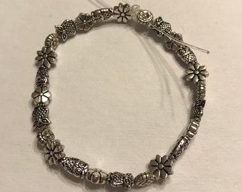 Stretchy Metal Beaded Bracelet