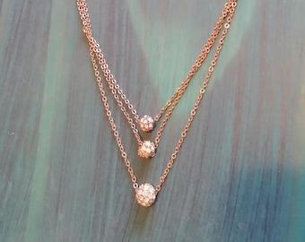 Rhinestone Orbs Necklace