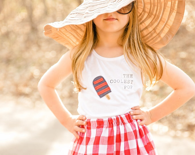"""Swanky Shank Gender Neutral Tank """"The Coolest Pop"""" 4th of July; Memorial Day; Summer Tank"""