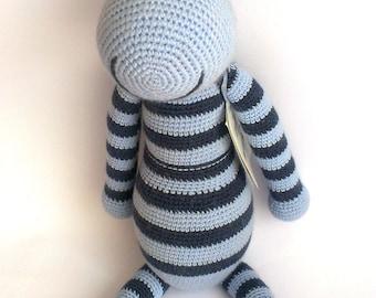 Zuze - Crocheted Toy, Handmade Zebra Doll, Stuffed Animal, Kids Toys, Large Stuff Toy