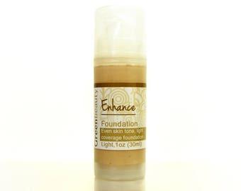 Liquid Foundation, 1oz, light shade, mineral foundation, cream foundation, natural foundation, tinted face cream, tinted moisturizer, makeup