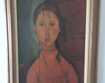 Girl With Braids by Amedeo Modigliani oil painting