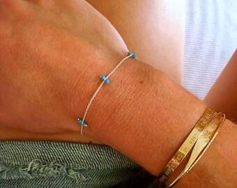 Turquoise Stepping Stones Bracelet