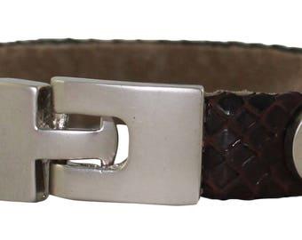 Python Bracelet, Python Cuff, BAJ 496 G Brown
