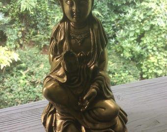 Brass Kwan Yin Statue