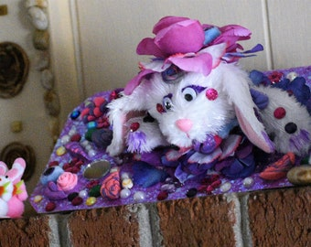 snuggly cuddly toy, white bunny rabbit, kawaii plushie, pop up bunny, pop up rabbit, birthday card child, plush stuffed animal, bunny rabbit