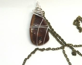Wire Wrapped River Stone