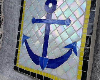 Mosaic Anchor Wall Art