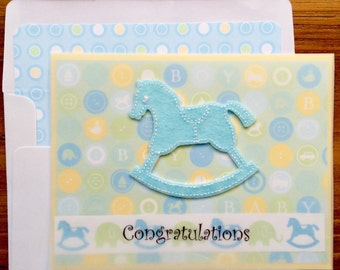 Baby Boy Congratulations Card For New Parents-Grandparents-Great Grandparents