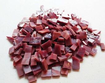 MOSAIC Glass Tiles * 4 ounces * Red Burgundy Opal