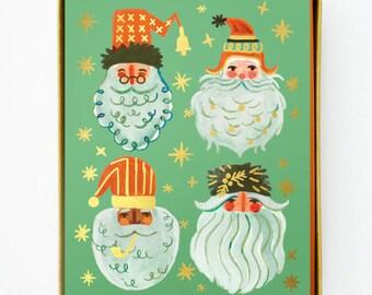 Holiday Santas 8pcs