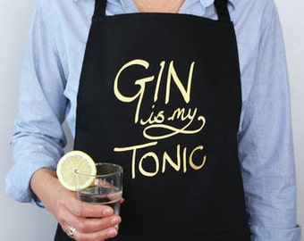 Gin is My Tonic Apron - Gin and Tonic Gift