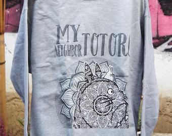 Totoro - Mandala - Gray Sweatshirt