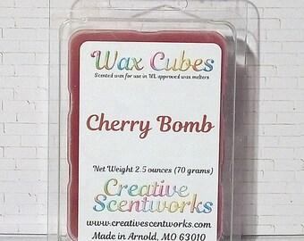 Cherry Bomb Scented Wax Melts, Wax Tart, Wickless Candle, Melting Wax, Wax Melt, Fruit Scented, Scent Bar, Scent Cube, Wax Bar