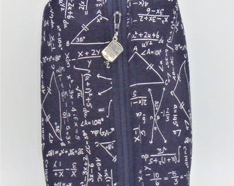 Mathematic Travel Pouch, Geek Ditty Bag, Toiletry Kit, Pencil Case, Black & White Pouch, Groomsmen Gifts, Gifts for Him, Dopp Kit, Go Bag