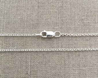 "20"" Sterling Silver Cable Chain - 1.5mm - 20"" Necklace - 20"" Silver Chain - Sterling Silver Necklace - Sterling Silver Chain - 20 Inch - SC2"