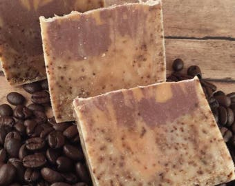 Coffee Soap Bar, Bar Soap, Exfoliating Coffee Soap, Artisan Soap, Handmade Soap, Vegan Soap, Soap, Gift, Men's Soap, Fragrance Free Soap