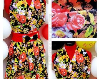 Marilyn pinup apron: pink black