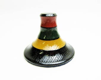 Vintage Wooden Paper Weight.urushi coating.Made by Zouhiko.Japanese WoodenCraft.Imperial Household Agency Warrant