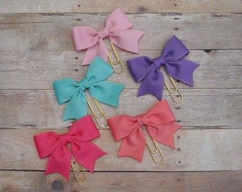 Bow Planner Clip, Planner Clips, Bow, Colorful Bow Planner Clips, Ribbon Clips, Bookmark, Girly, Stationery
