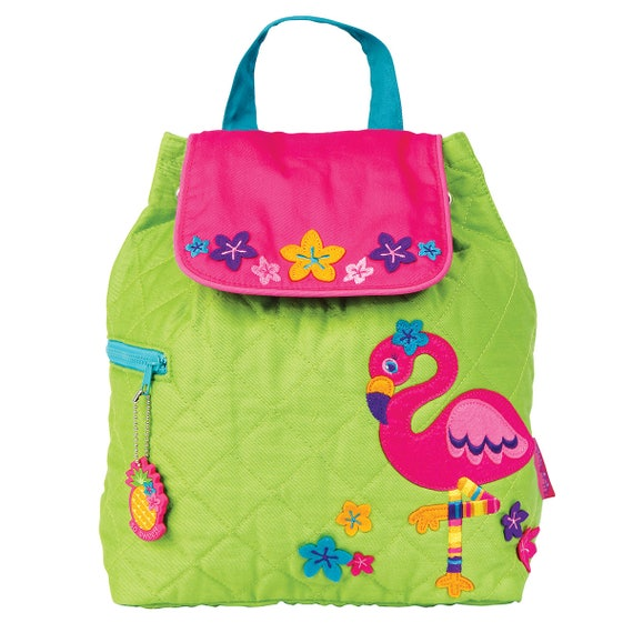 FLAMINGO, Stephen Joseph Quilted Backpack, Personalized Diaper Bag, Toddler Backpack, Kids Backpack. FREE Personalization.