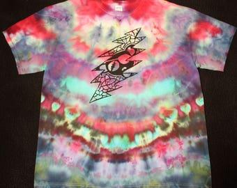 13-Point Bolt/ Pirate Bear Grateful Dead Shirt TieDye (XL)