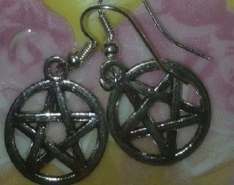 Women Pentacle of Protection Earrings brings good luck and Protection.
