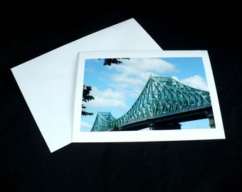 Montreal Jacques Cartier Bridge Blank Photo Greeting Card All Occasion
