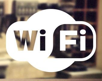 WiFi vinyl window sticker #3, decal, shop, salon, pub, cafe - DEC1103