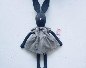 Bunny Rag Doll, Stuffed Animals, Soft Animal, Personalized Doll, Handmade Toy, Custom Bunny, Personalized Gift, Cute Bunny, Nursery Decor