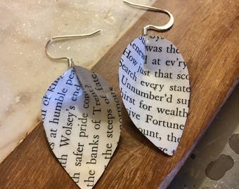 Vintage Book EARRINGS