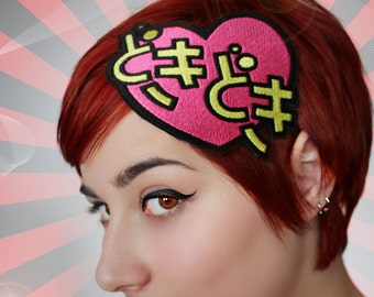 Valentine headband, doki doki heart beat, anime- Black FRiday Cyber Monday