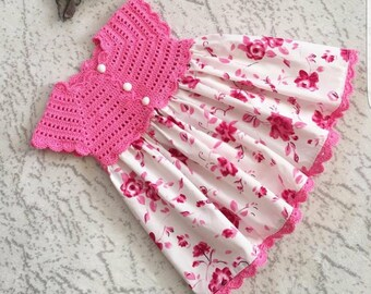 Pink Spring Dress for Little Girls