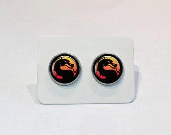 Stainless Stud Earrings Mortal Kombat Symbol