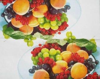 Fruit #AL063 TOWEL in paper cups