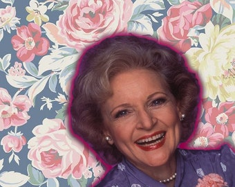 Golden Girls Birthday Card, Rose Nylund, Betty White