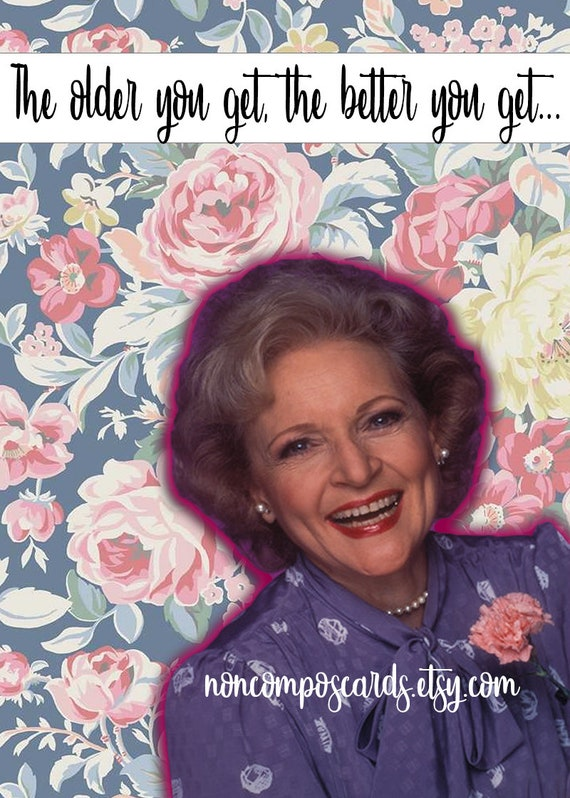 Golden girls birthday card rose nylund betty white like this item bookmarktalkfo Images