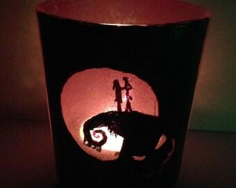 Nightmare Before Christmas candle Jack+Sally Nightlight Halloween Decoration