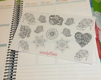 Planner Stickers: Color me Stickers 1