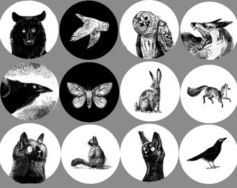 Mix and Match Animal Buttons