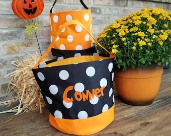 3 day Pre-Halloweem Sale** Personalized Halloween Bucket/Trick or Treat Bucket