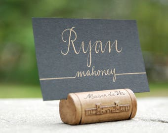 Custom Wedding & Event Fold Over or Flat Name Card / Place Card - Personalized Hand Calligraphy - Colors of Choice - Made to Order
